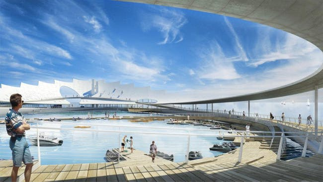 St. Petersburg Pier proposal by Wannemacher Jensen Architects. Image © Wannemacher Jensen Architects.