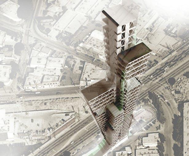 aerial rendering in site