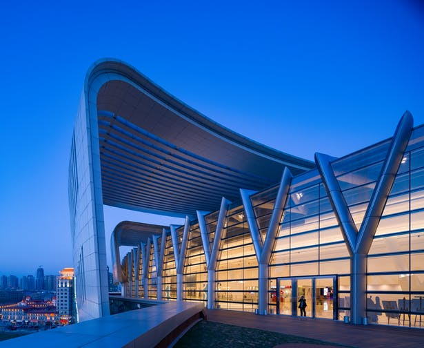 Olympia 66 in Dalian, China by Aedas - Roof Deck