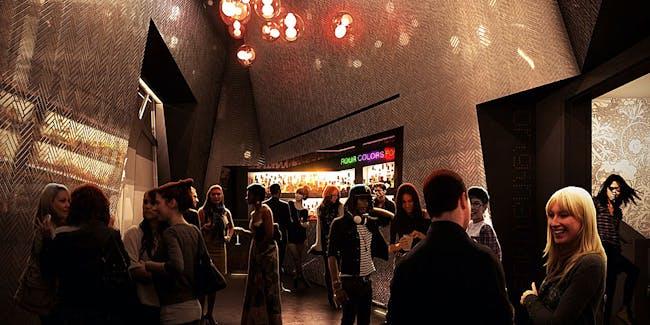 Lobby - The National Sawdust / Original Music Workshop venue in Brooklyn, NY. Image: Bureau V.
