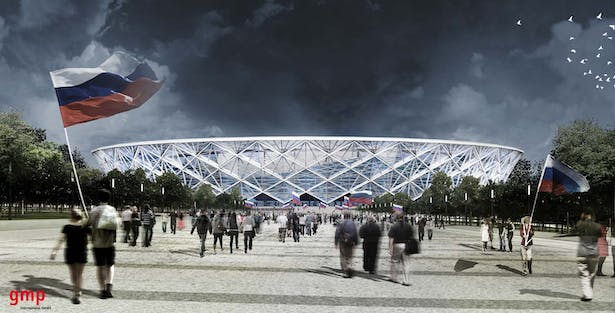 View from Main Axis - Final Option © gmp