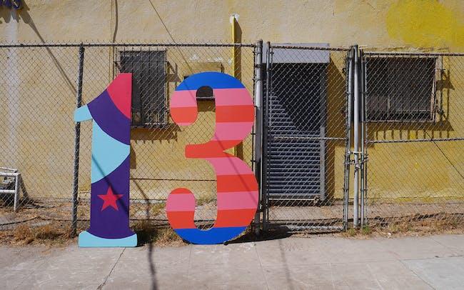LA-Más work for Frogtown Artwalk 2014. Courtesy of LA-Más.