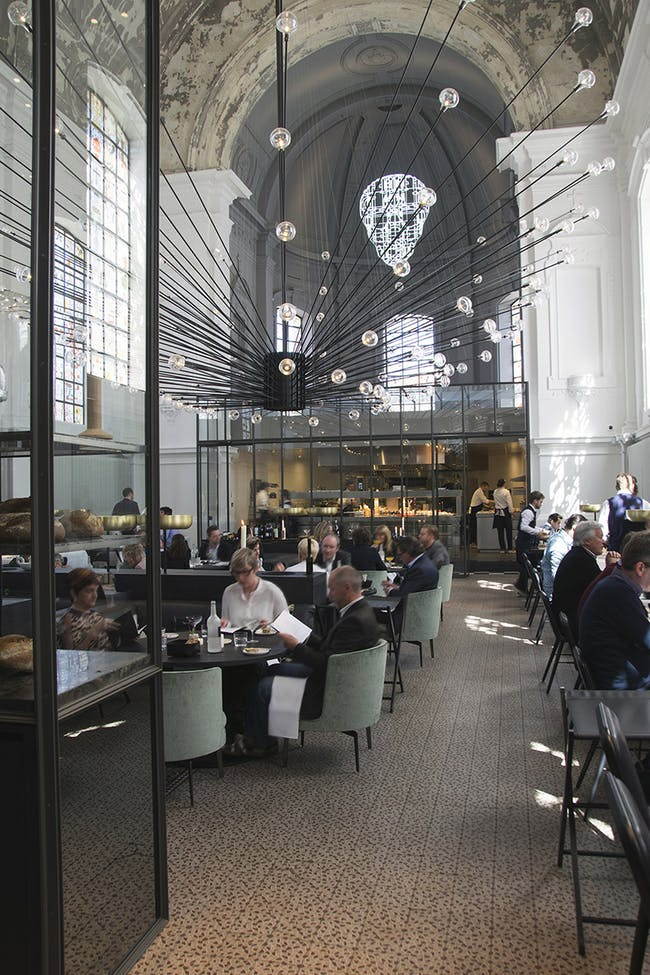 The Jane Restaurant in Antwerp, Belgium by Piet Boon architects; Lighting Designer & Manufacturing: PSLab