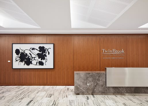 ​Citation for Integrated Ceiling Feature: Twin Brook Capital Partners Offices | Chicago, IL. Photo: Steve Hall.