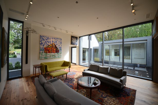 Living room to courtyard