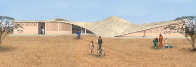 The new THREAD Arts Center in the village of Sinthian in Senegal, designed by Toshiko Mori Architect.