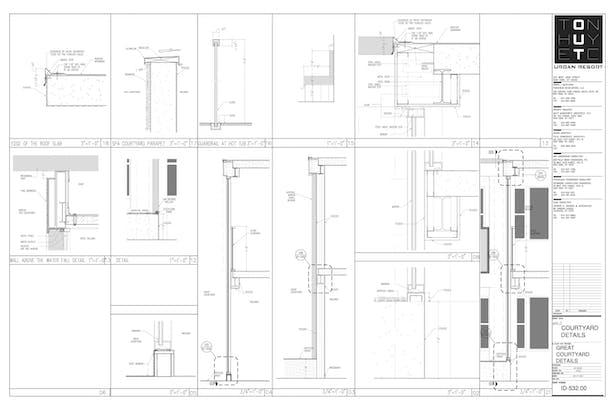 Enlarged Great Courtyard -My sample design of custom details