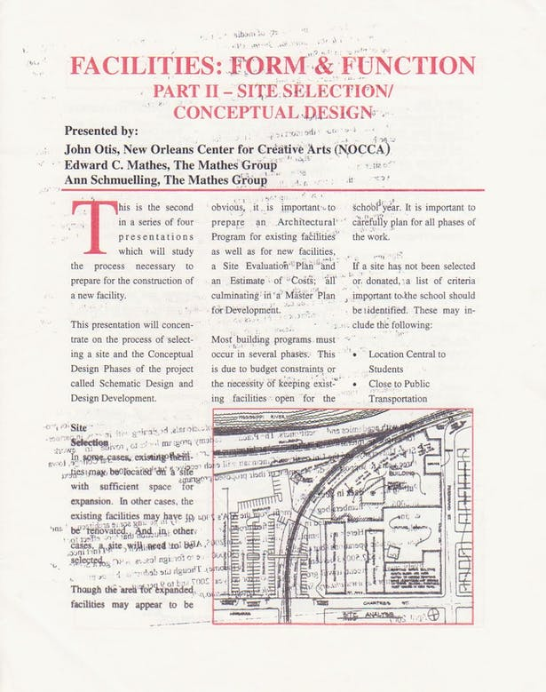 Site Selection Seminar Page 1