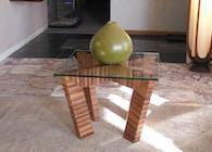 Zebra Wood Side or End Table