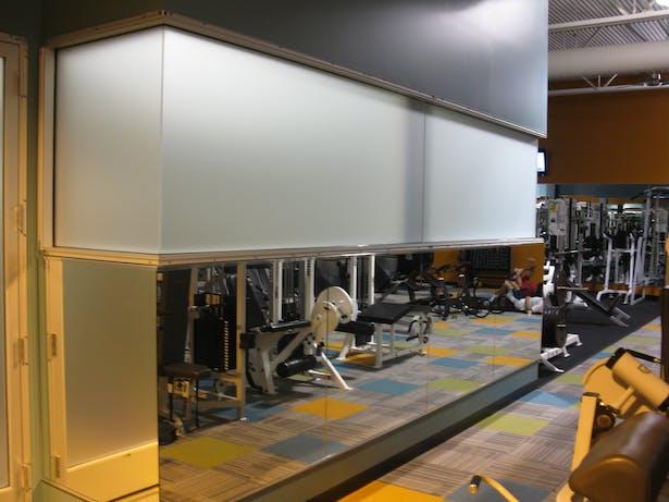 Fitness Center outside of aerobics room.