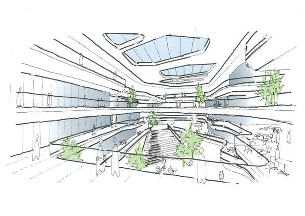 Unilever Headquarters, Jakarta, Indonesia - Sketch