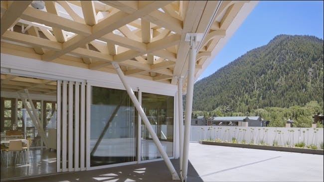 Screenshot of Shigeru Ban's Aspen Art Museum