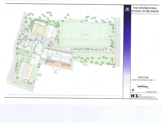 Site Plan and Fl. Plan (level +1)