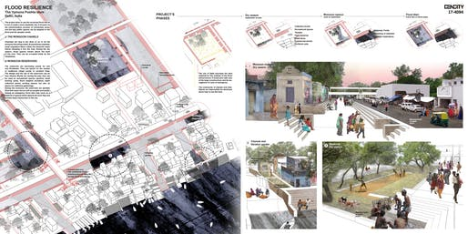"3RD PLACE: ""Delhi: Flood Resilience"". Entry by: Adèle Hopquin"