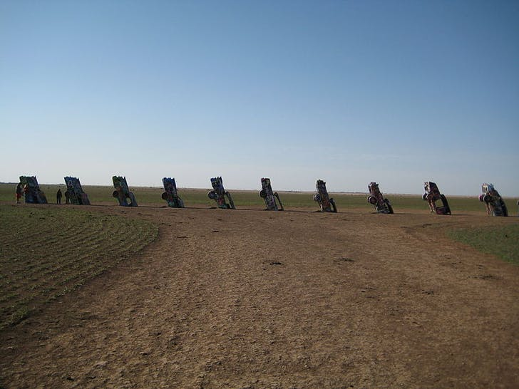 Ant Farm's 'Cadillac Ranch' installation. Image via Wikipedia.