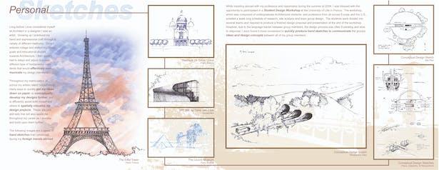 Personal sketches/renderings presentation board 01
