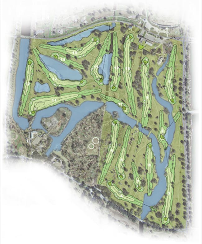 Developers' plans to build a new Championship-worthy golf course in the park. Credit: Jeff Duncan / NOLA.com