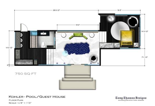 KOHLER GUEST/POOL HOUSE - THE PLAN