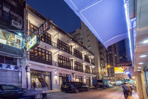 Aedas' Revitalisation Project at Mallory Street/Burrows Street, Wan Chai, Hong Kong. Photo courtesy of Aedas