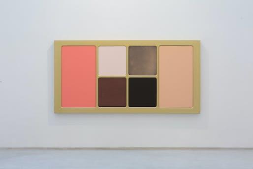 Sylvie Fleury, Solar Exposure, 2017, Acrylic on shaped canvas, Salon 94 Gallery, New York.