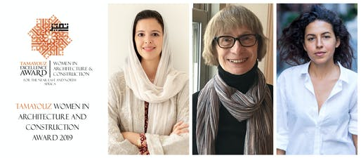 Winners of the 2019 Women in Architecture and Construction Awards. (From left to right) Rising Star Award - Dana AIAmri, Outstanding Achievement Award - Dr. Zeynep Celik, and Woman of Outstanding Achievement - Shahira Fahmy.