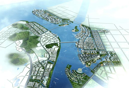 A render of a plan for Nanshu, a so-called 'smart city,' outside of Guangzhou, China. Credit: Wikipedia