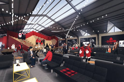 Canada Olympic House at the Olympic Winter Games PyeongChang 2018. Image courtesy of Canadian Olympic Committee & Sid Lee Architecture.