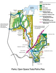The Canyons Overlay Illustrations - Parks, Open Space, Trails/Paths Plan