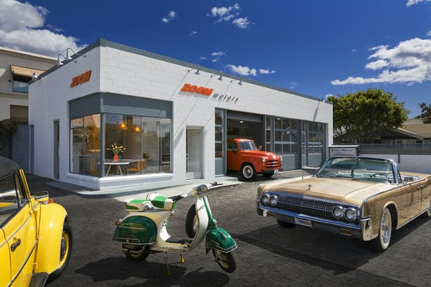 adaptive re-use project. conversion of 1950's standard oil service station. modern design | brand-centric auto dealership. 1,584 sq ft.