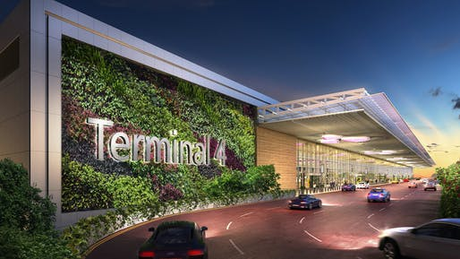 Driveway at the Changi Airport Terminal 4 by SAA and Benoy. Image courtesy of SAA and Benoy.