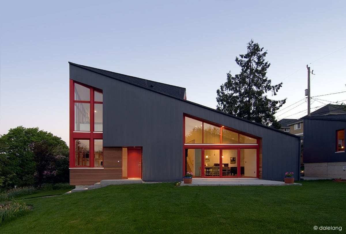 The burke gilman house paul michael davis architects for Modern metal building