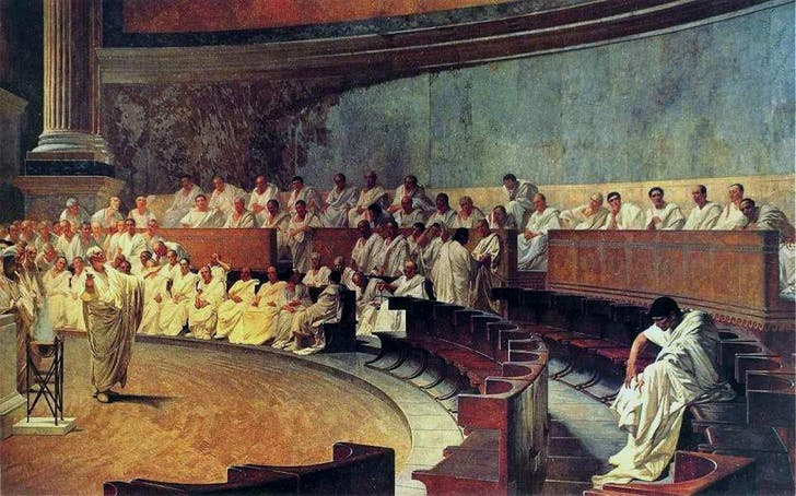 Public speaking, a skill as old as democracy (image via wikipedia.org)