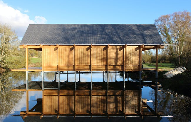 The Fishing Hut by Niall McLaughlin Architects. Photo © Niall McLaughlin Architects.