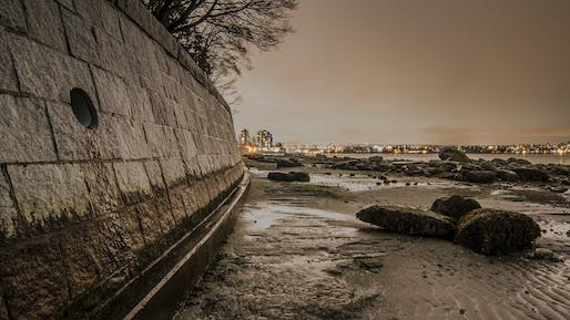 Contemporary seawalls, such as the one pictured here, tend to disintegrate after only a few decades. Roman seawalls, however, have lasted for millennia. Image: Colin Knowles
