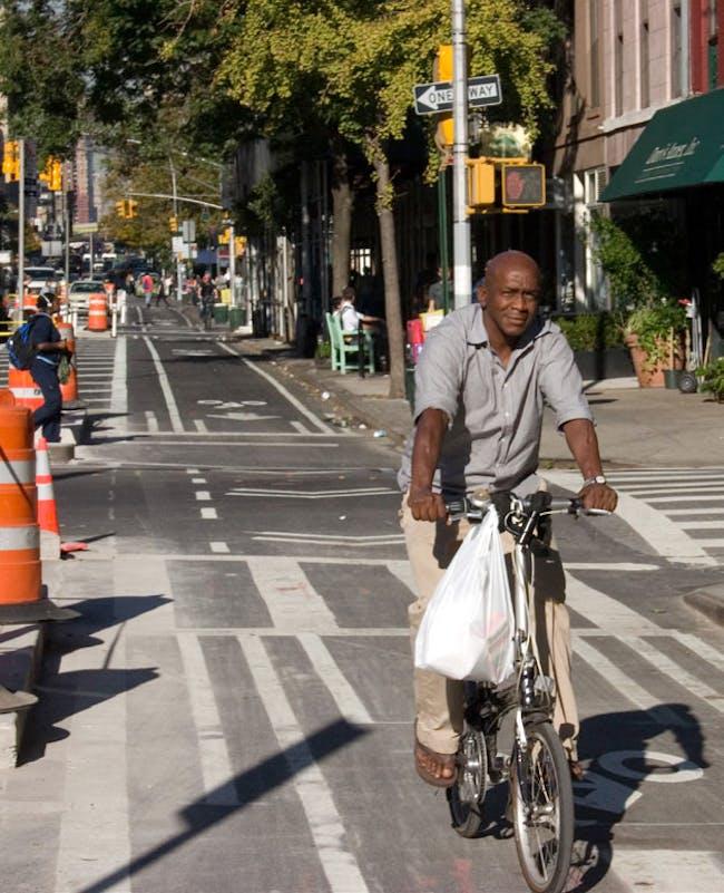 9th Ave., New York, NY. Image via PeopleForBikes.