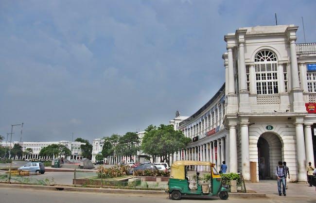 Rajiv Chowk, the inner circle street