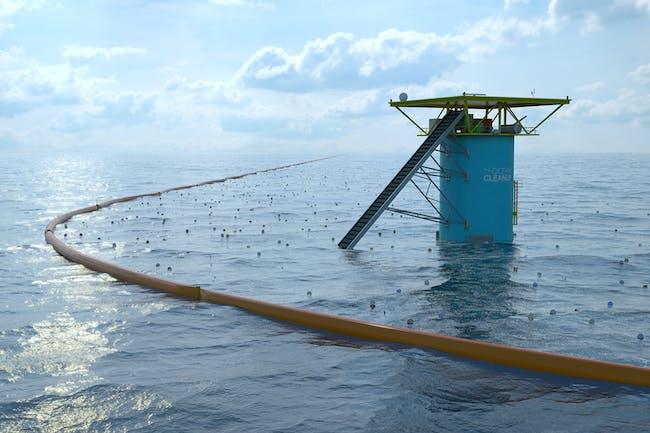 DIGITAL: THE OCEAN CLEANUP. Designed by Boyan Slat, Jan de Sonneville PhD and Erwin Zwart.