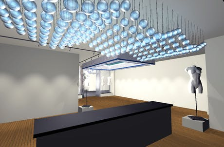 Rendering for retail space in Vegas. A bit Di Chirico, don't you think?