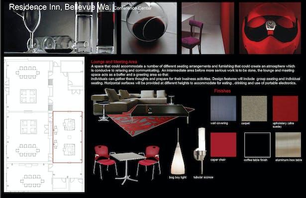 FF&E selections Lounge Area