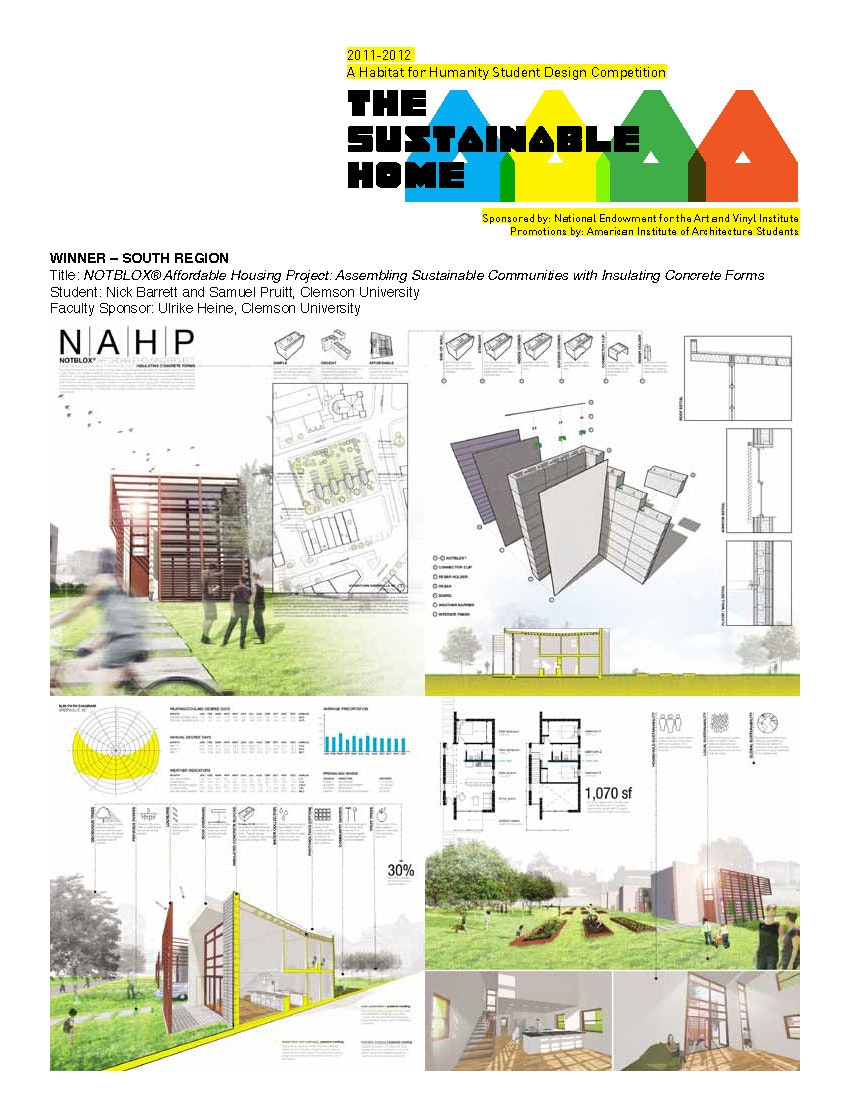 Wonderful Clemson Graduate Students Nick Barrett And Sam Pruitt Won The Prize For The  South Region In The Habitat For Humanityu0027s Sustainable Home Design  Competition ...