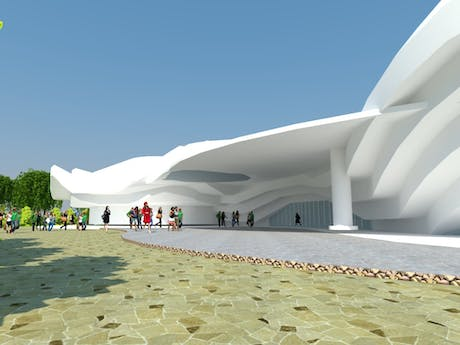 Redesigning of Alhambra Art Complex, (Building entrance)