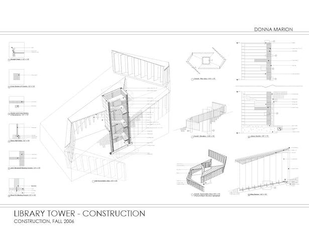 Construction drawings - Library Tower
