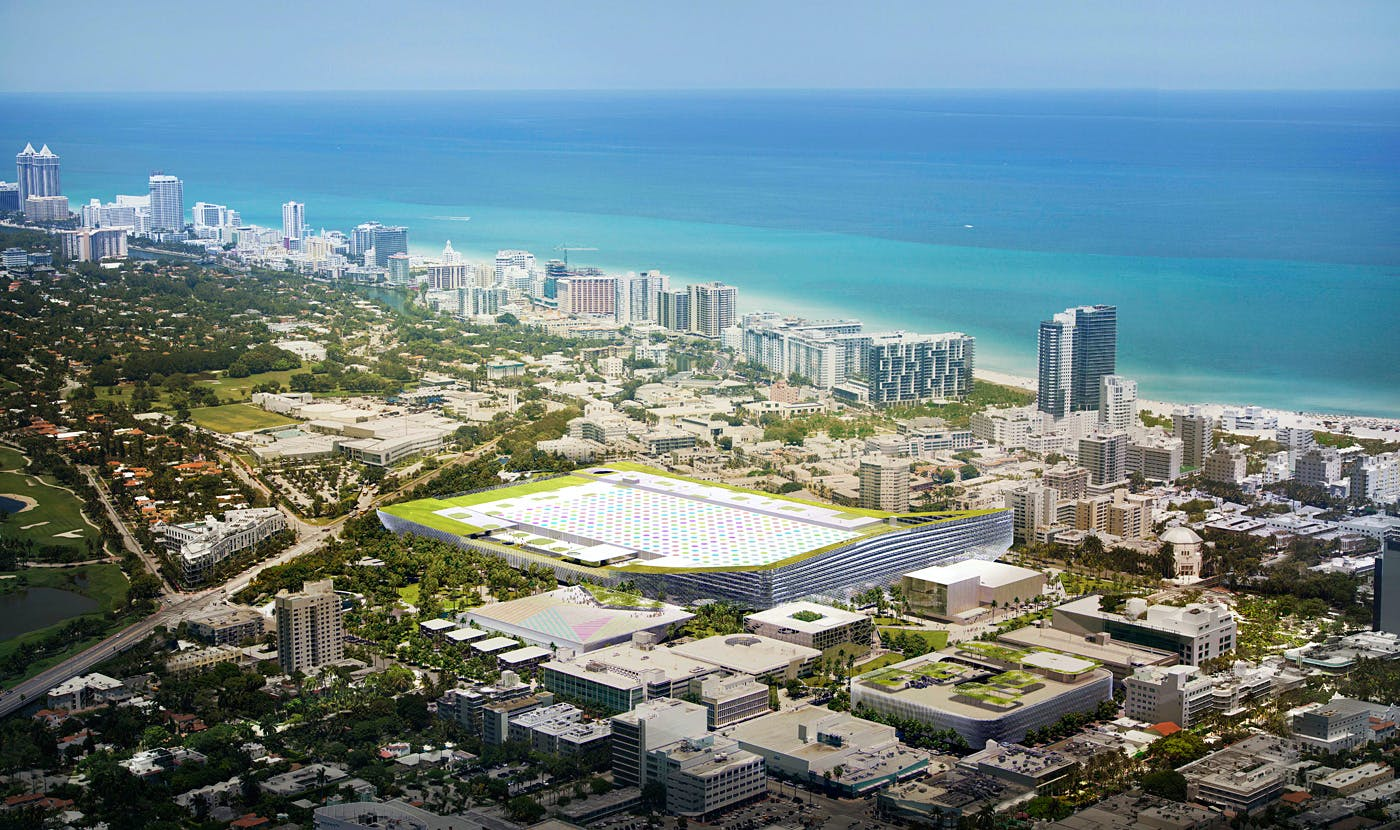 Aerial View Of The Proposed Miami Beach Square Development By West 8 Fentress