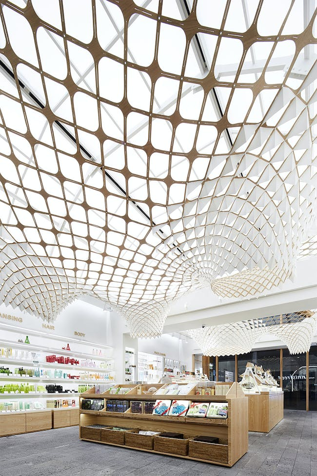 Innisfree flagship store in Seoul, South Korea by Innisfree; Installation and Facade: SOFTlab