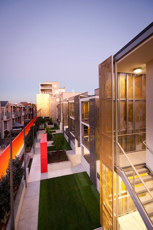 Fitzgerald Street Social Housing Development, Australia by JCY Architects and Urban Designers (Photo: Damien Hatton)