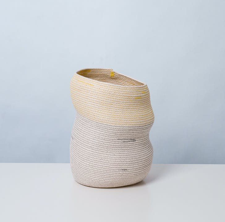 'Asymmetrical Basket No.2', 2012, stitched cotton rope. Photo by Michael Popp