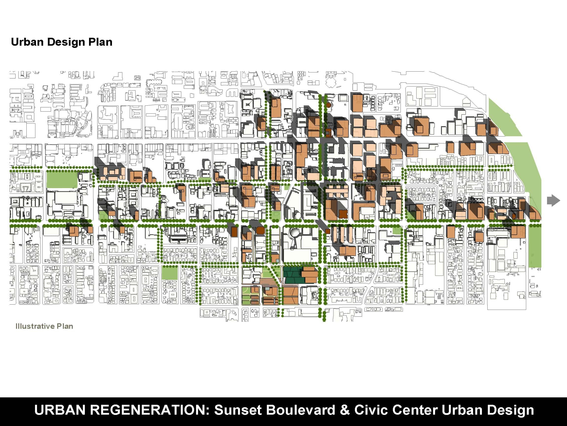 sunset boulevard  u0026 civic center urban design plan