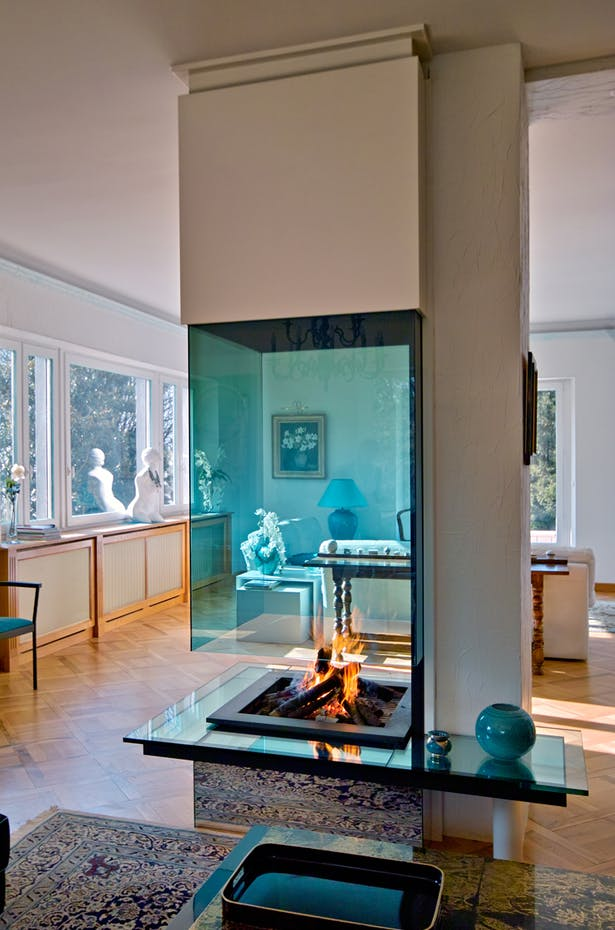 Bloch Design suspended fireplace 2