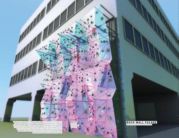 Parametric Rock Wall / Advanced Building Facade