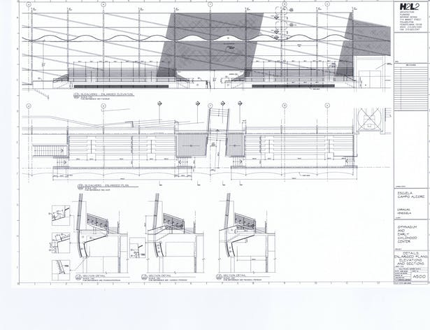 Bleachers - Details, Enlarged Plans, Elevations and Sections